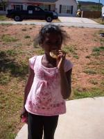 Alita with her cookie! :)