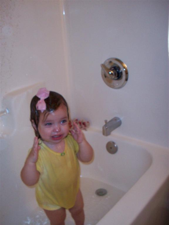 Who says you have to take your clothes off to play in the bathtub?
