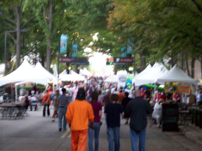 The crowds at Fall for Greenville