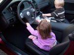 Chloe driving her dream car. . . .