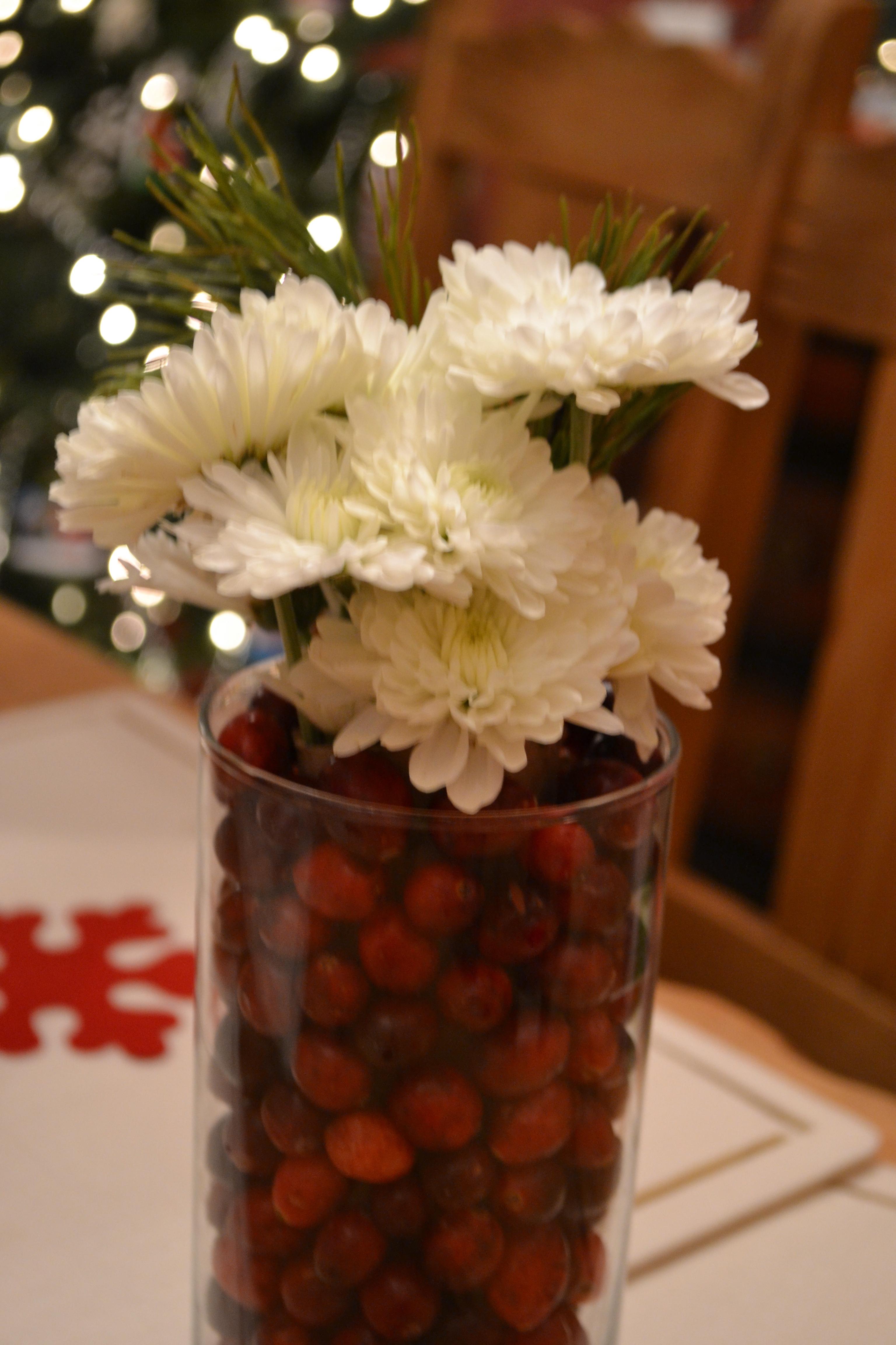 Frugal Er Cranberry Christmas Centerpieces
